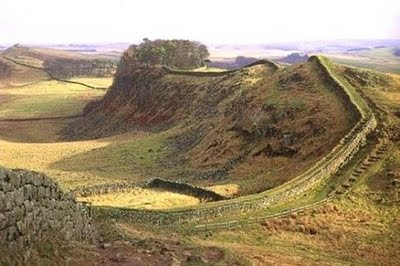 Hadrians Wall in Northumberland