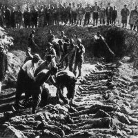 erzerum armenian highlands in eastern anatolia. burial of the victims of the october 30 1895 massacres of the armenians during the region of sultan abdul hamid ii